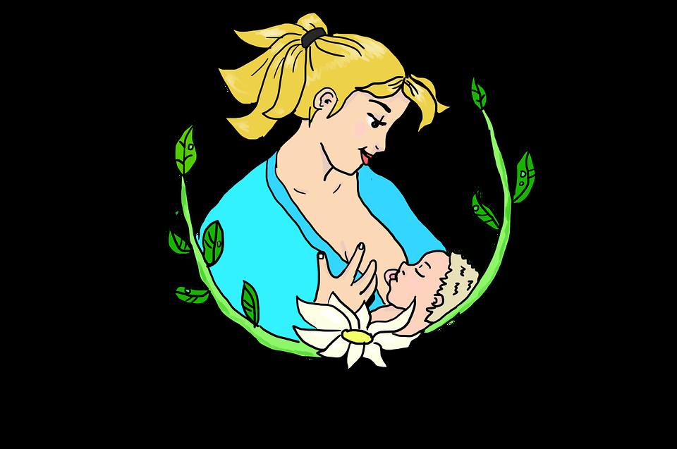 Dessin allaitement mère enfant